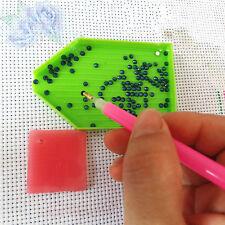 DIY Nail Art Dotting Tool Set Rhinestone Point Pen+Plate+Picker Gel+Tweezer