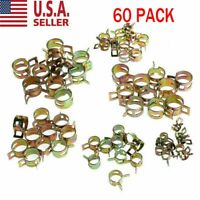 60pcs Spring Clips Fuel Hose Line Water Pipe Air Tube Clamps 7/10/11/14/16/17mm