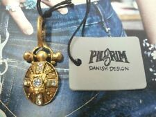 NEW PILGRIM DENMARK 16K GOLD PLATED PENDANT WITH AB CRYSTALS HANDMADE VINTAGE