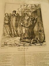 HD 3806 Caricature DAUMIER 1867 Once c'était different Remember we in