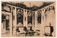Ansichtskarte Schloss Ansbach - Blick in das Marmorkabinett mit Einrichtung s/w