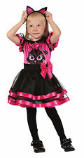 Childs Pink Kitty Toddler Halloween Cute Fancy Dress Outfit Costume Age 2 - 3