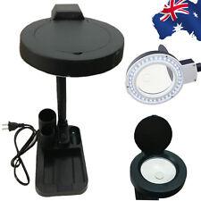 40 LED 5x 10x Magnifier Magnifying Glass Lens Light Lamp Desk EMAG61640+EPLUG01