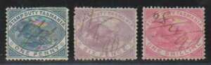 D0235: Tasmania #AR24, 26, 27 Used; CV $68