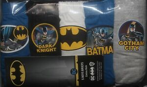 5 Pairs of BATMAN Boys 100% Cotton BRIEFS/PANTS Sizes 2 - 8 Years