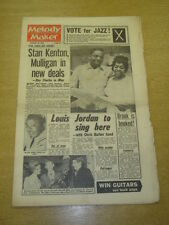 MELODY MAKER 1962 NOVEMBER 10 STAN KENTON GERRY MULLIGAN LOUIS JORDAN +