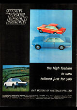 "1968 FIAT 124 SPORTS COUPE AD A4 POSTER GLOSS PRINT LAMINATED 11.7""x8.3"""