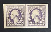 US Stamp, Scott #535 Type IV Line Pair, 1918 XF M/NH, large margins, light shade