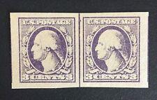US Stamp, Scott #535 Type IV Line Pair, 1918 XF M/NH, large margins, light shade