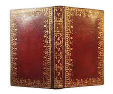 1745 Longus Daphnis Chloé Reliure époque maroquin rouge dentelle Figures Scotin