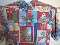 Reyn Spooner Hawaiian shirt perfect condition Mele Kalikimaka 2001 Christmas XL