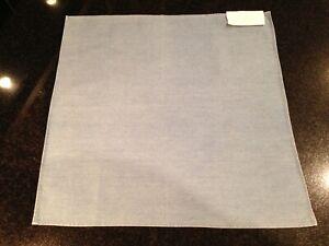 """NWT $180 Brunello Cucinelli 14"""" Italian Made Pocket Square in Blue Cotton Denim"""
