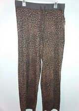 New Large Gloria Vanderbilt Pants Lounge/Pajama Animal Print Brown/Chocolate $32