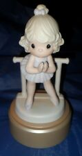 """*RETIRED PRECIOUS MOMENTS FIGURINE  """"LORD, KEEP ME ON MY TOES""""  $85.00 VALUE"""