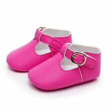 Newborn Baby Infant Girl Soft Sole Crib Shoes Leather Pram Christening Moccasins