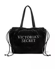 Victoria S Secret Luxe Velvet Logo Tote Bag Black