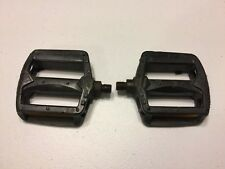 "GT Stamped BMX Bicycle Pedals 1/2"" Black Old School Bike 287"