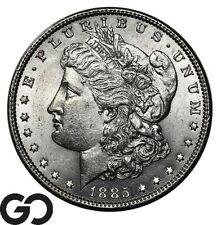 1885 Morgan Silver Dollar Silver Coin, Nice Mint Luster