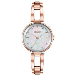 Citizen Eco-Drive Axiom Rose Gold Bracelet Women's Watch - EM0803-55D