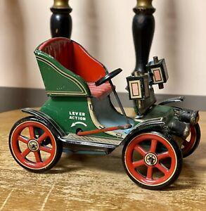 Vintage Trade Mark Modern Toys Tin Litho Lever Action Car Made In Japan WORKS !!