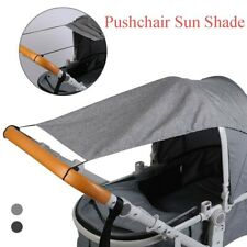 Pushchairs Blackout Parasol Umbrella,Canopy Pram Cover with Wide Shade Wings,Stroller Blocks Baby Strollers Widen Sun Shade Anti-Uv Grey Pushchair Sunshade with Viewing Window