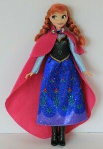 2016 Hasbro Disney Princess Frozen Anna Doll 11 in Dress Shoes Cape