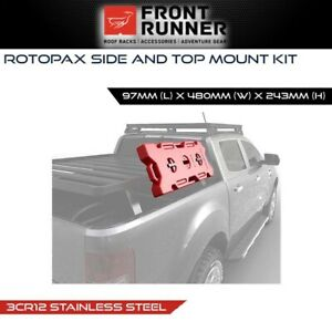 Front Runner Rotopax Side & Top Mount Kit Stainless Steel 4x4 4WD Offroad Gear