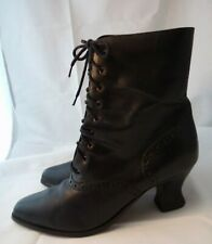 Steampunk 8.5 M Witch Granny Boots Victorian APOSTROPHE Black Lace Boots