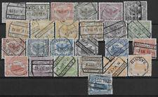 ###  Belgien  Satz Eisenbahnmarken 1915-1919 (o)  -LESEN-  ###