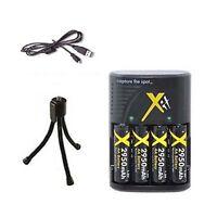 Batteries + Charger + USB Cable for Kodak Z650 Z700 Z710 ZD710 Z712 Z740 Z885