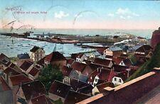 Ansichtskarte Helgoland Unterland mit neuem  Hafen - 00382