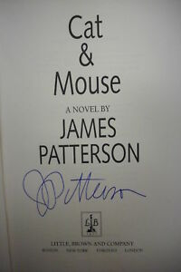SIGNED First Edition CAT & MOUSE James Patterson *Murder Mystery