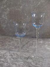 Glashütte Kristallglas Glas 2x Kerzenhalter Teelichthalter Leuchter 20 und 25 cm