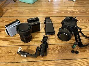 Mamiya Rb67 Pro SD+ Kl 127mm+APO Kl 210mm+ 4 Rückwände+ Pistolengriff