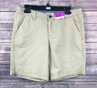Merona Women's 100% Cotton Beige Khaki Shorts Size 8 Inseam 8.5 NEW