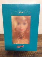 Holiday Jewel Barbie- Holiday Porcelain Barbie Collection- 1995- NEW IN BOX