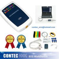 CONTEC 12CH Sistema de estación de trabajo de ECG EKG Sistema de análisis de ECG