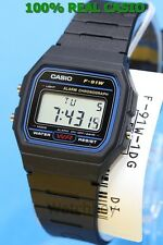 F-91W-1D Japan Movt New Genuine Casio Watch 7-Year Battery Lift Black