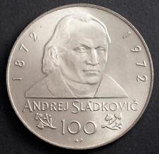 "1972, Czechoslovakia. Silver 100 Korun ""A. Sladkovic"" Coin. (25gm!) KM-Unlisted!"