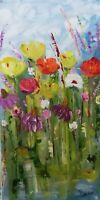Oil original painting on canvas size 10x20 inches