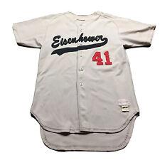 60s 70s VTG POWERS EISENHOWER HIGH SCHOOL Baseball Jersey Sewn Chicago 42 Men