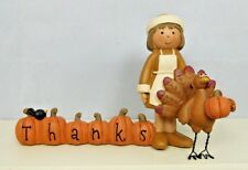 Mini pumpkins with a female pilgrim with a turkey - New by Blossom Bucket #89863