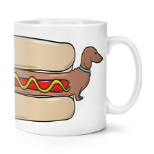 Hot Dog Dachshund 10oz Mug Cup - Funny Fast Food Sausage Puppy Crazy Dog Lady