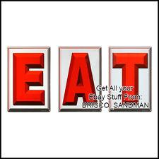 "Fridge Fun Refrigerator Magnet ""EAT"" Logo ""Sign"" - -Retro Diner-"