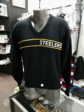 Vintage 1980s NFL Pittsburgh Steelers Cliff Engle Sweater Size M