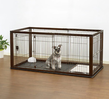 Dog Kennels Indoor Crate Small Medium Puppy Training Cage Expandable Exercise