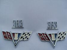 1965 65 1966 66 1967 67 CHEVY NOVA FLAG and 383 FENDER EMBLEMS KIT
