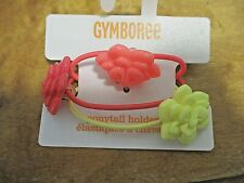 Nwt, 3-Pack Gymboree Pony-Tail Holders w/ Flowers on Top, Spring