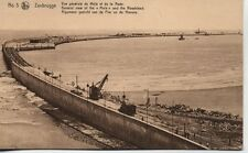 Steam Crane locomotive Zeebrugge Harbour Mole Pier Belgium unused 1900s postcard