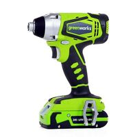 Greenworks G-24 24V Impact Driver, Battery & Charger Included 37032C